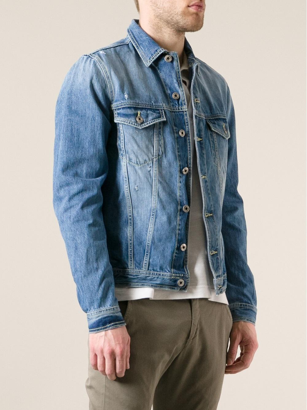 Dondup Faded Denim Jacket in Blue for Men | Lyst