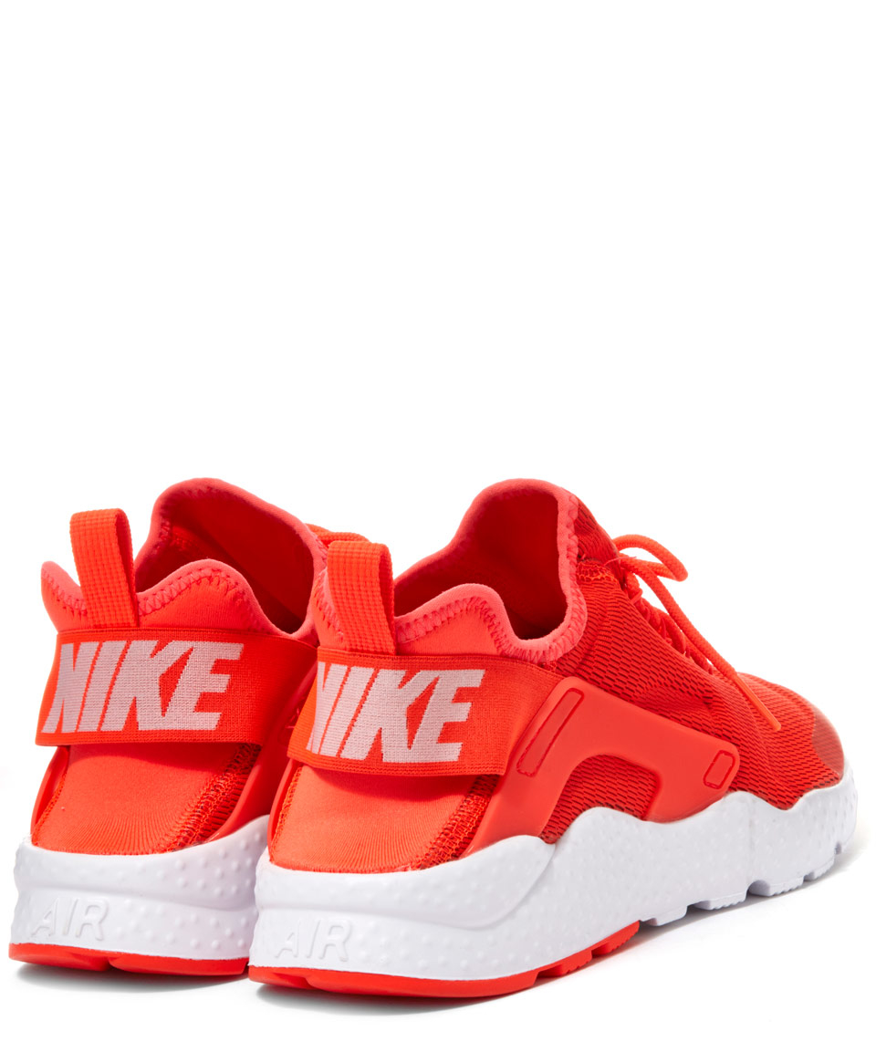 lyst nike red air huarache run ultra trainers in orange. Black Bedroom Furniture Sets. Home Design Ideas
