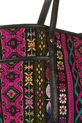 TOPSHOP Tapestry Poppins Tote Bag