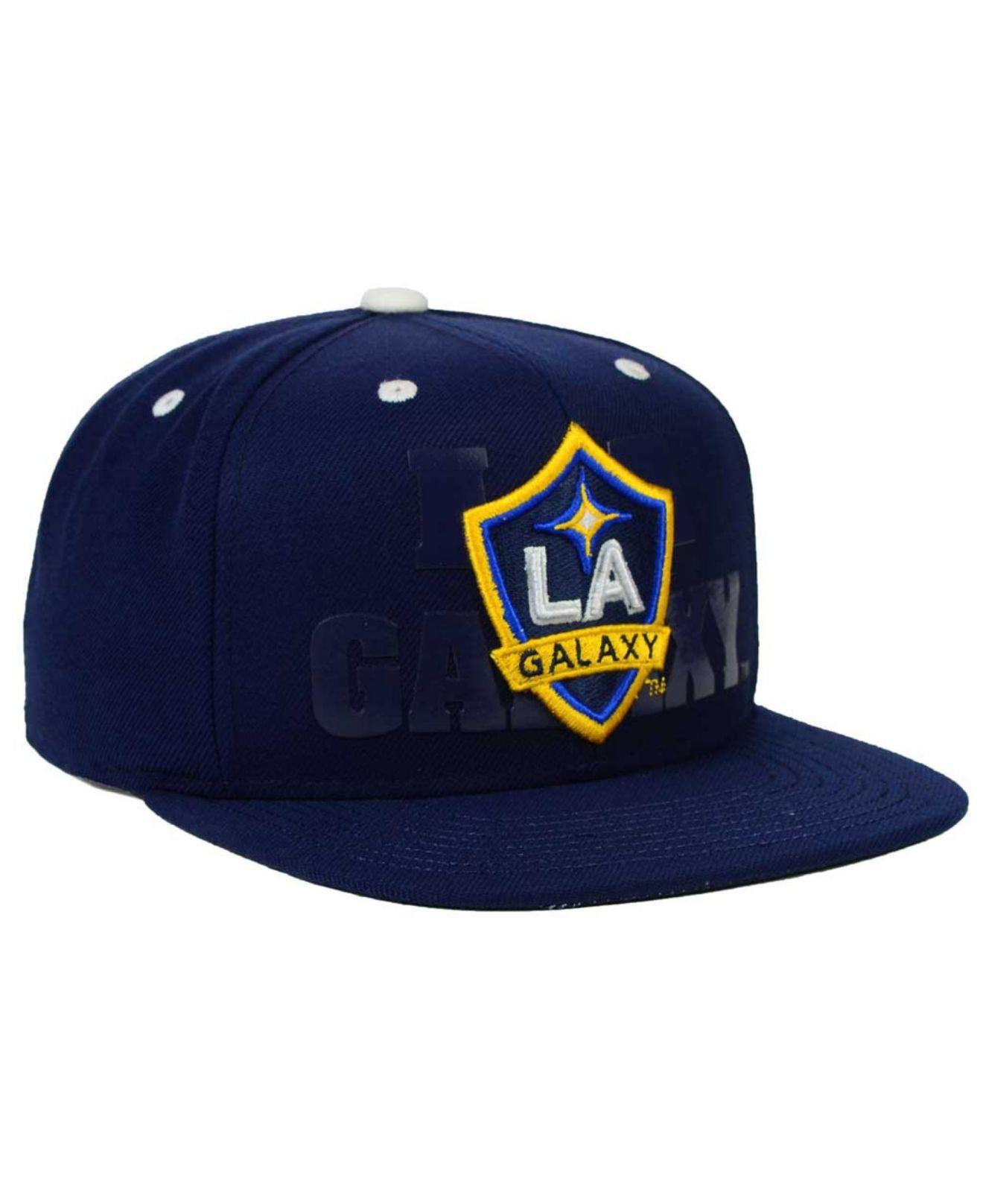 online store 93f01 371b8 adidas La Galaxy Academy Snapback Cap in Blue for Men - Lyst