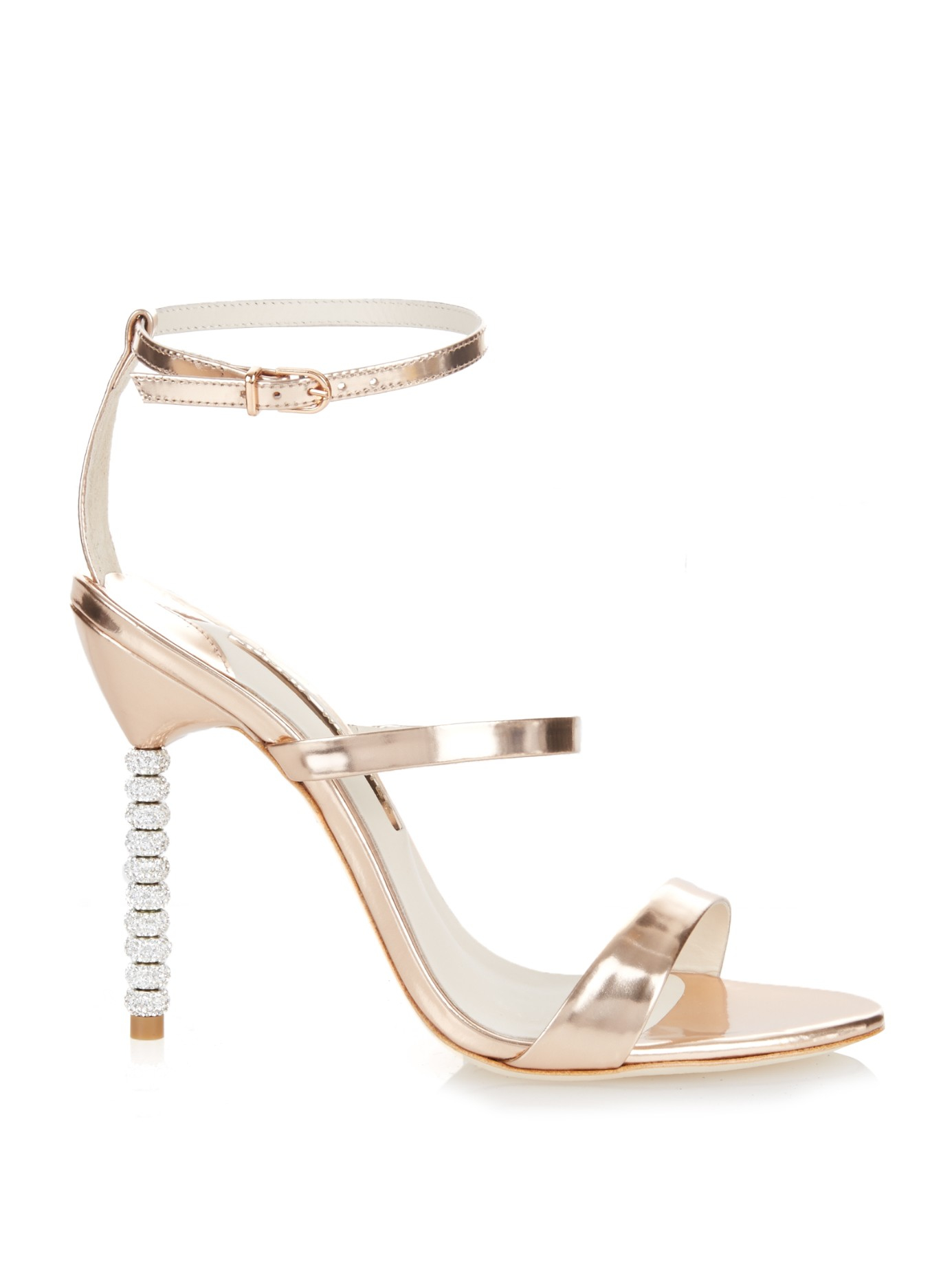 Outlet Best Wholesale Rosalind Crystal-embellished Glittered Canvas Sandals - Metallic Sophia Webster Cheap Limited Edition Factory Outlet Cheap Price Perfect ufxpcBBVP