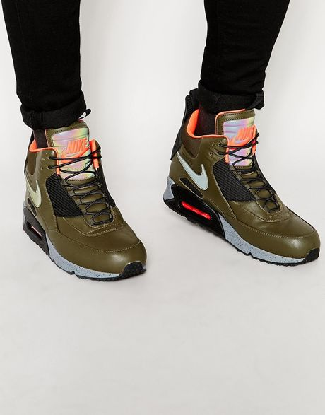 nike air max 90 winter sneakerboots 684714 300 in green
