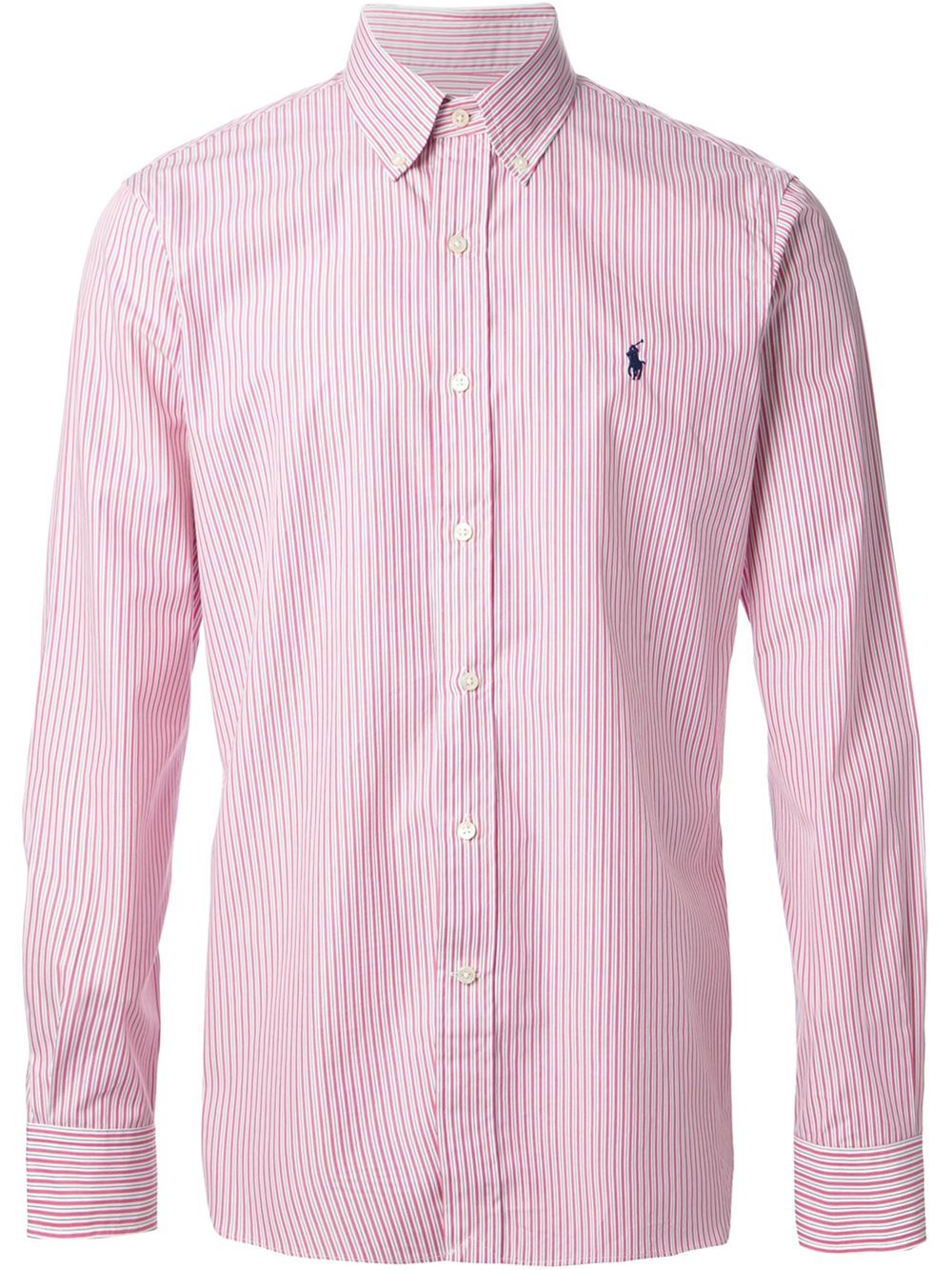 Polo ralph lauren Striped Shirt in Purple for Men | Lyst