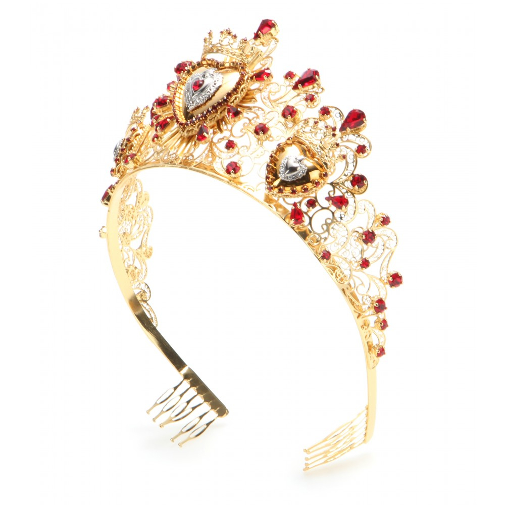 4ce283e9539e Lyst - Dolce   Gabbana Crystal-Embellished Tiara in Metallic