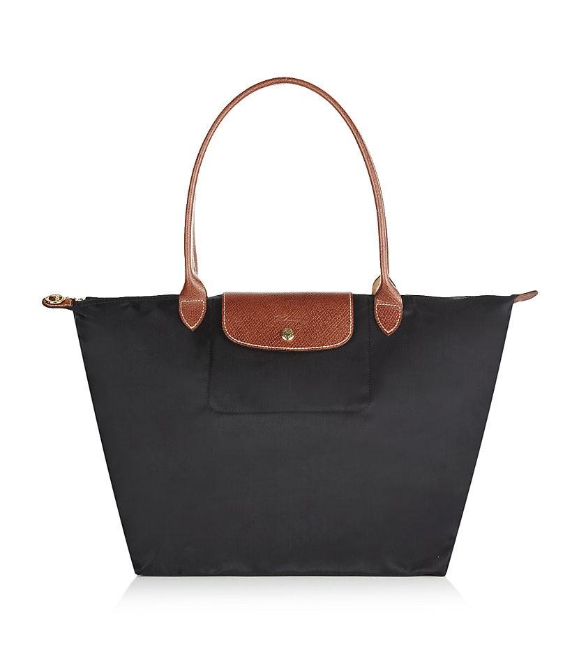 longch le pliage large shoulder bag in black lyst