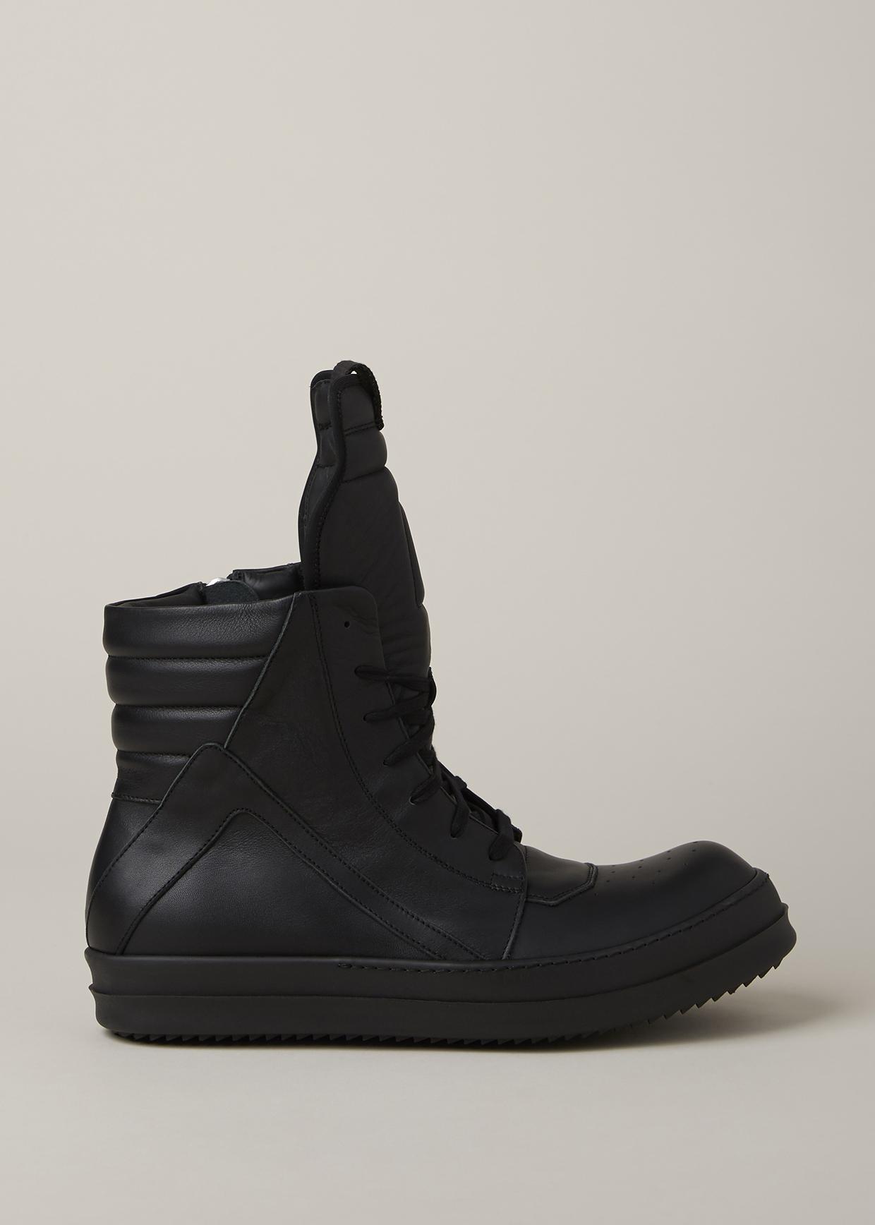 rick owens black black geobasket sneaker in black for men lyst. Black Bedroom Furniture Sets. Home Design Ideas