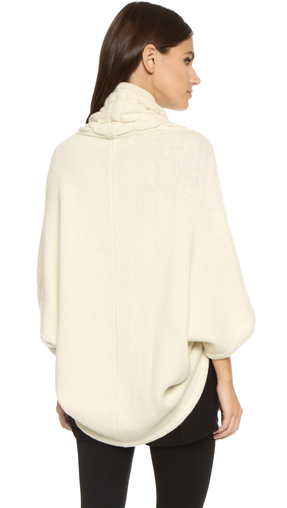 Lyst Zero Maria Cornejo Cable Knit Sweater In White