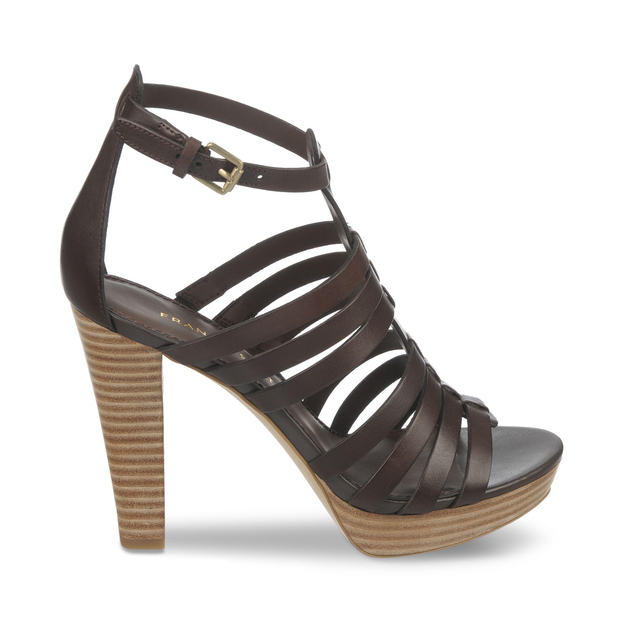 64bafff7375 Lyst - Franco Sarto Bauble Platform Gladiator Sandals in Brown