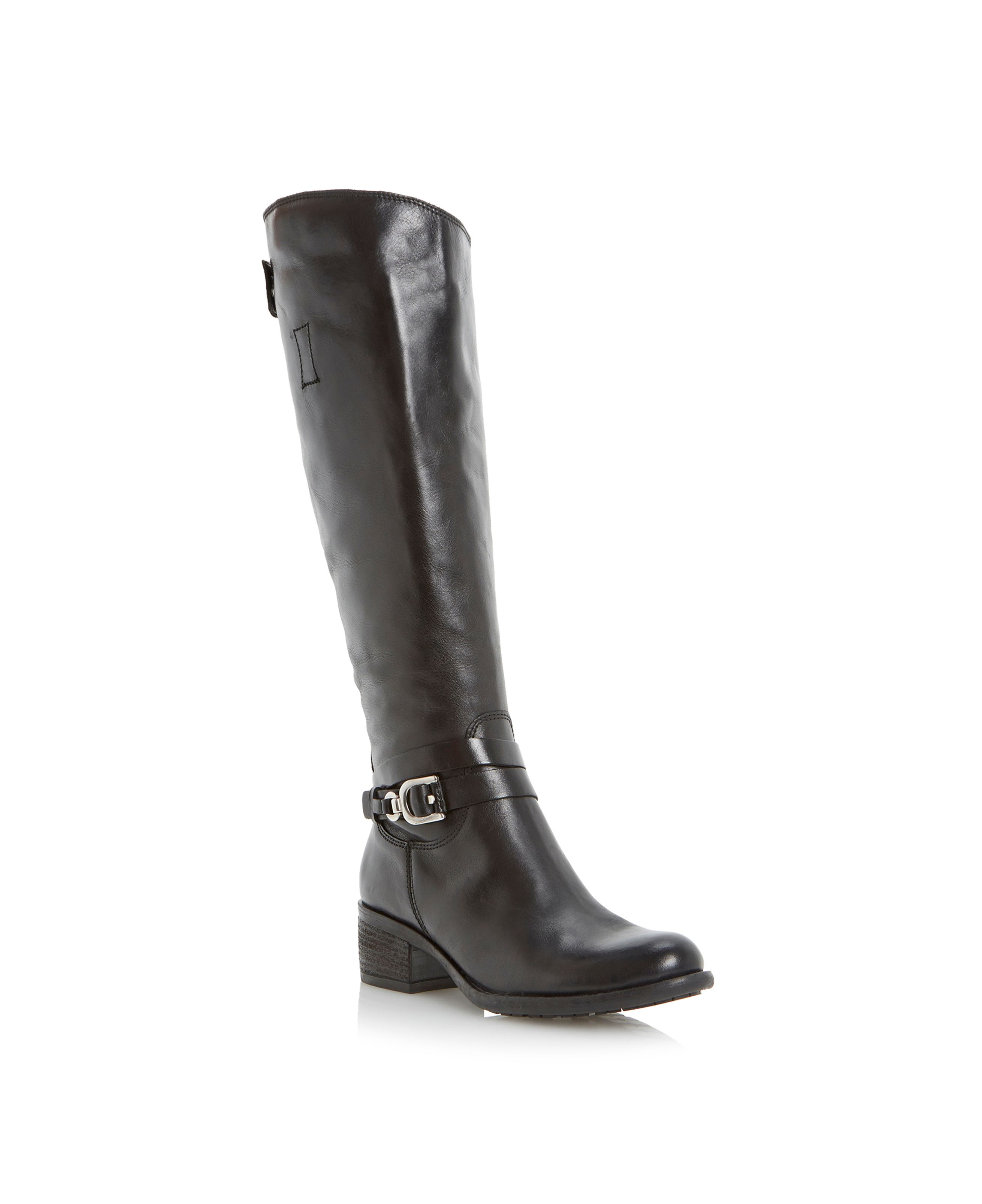 dune tina knee high boots in black lyst