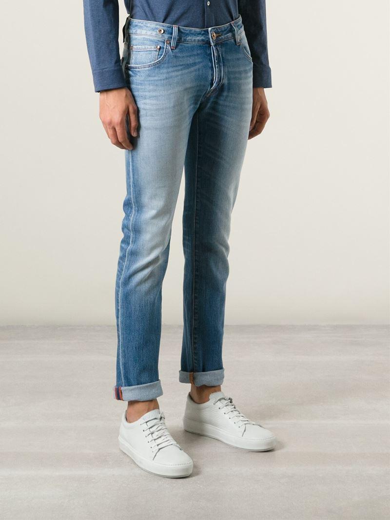 Jacob Cohen Denim 'Nick' Washed Jeans in Blue for Men