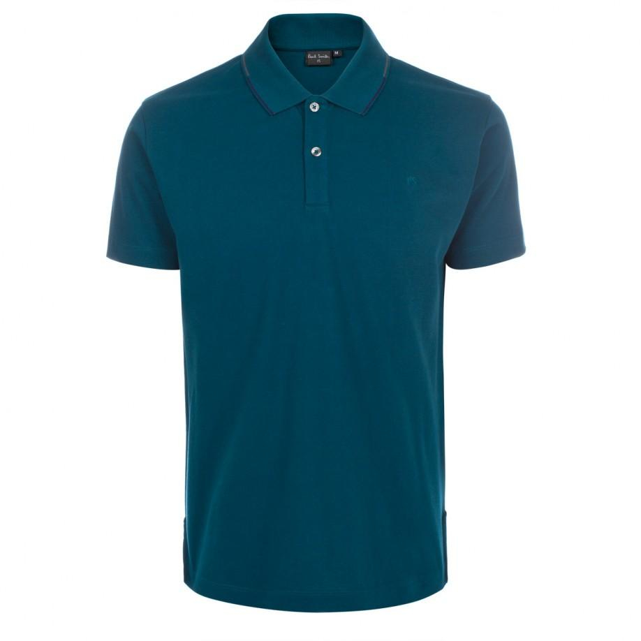 Paul smith men 39 s petrol ps polo shirt in blue for men lyst for Mens polo shirts online