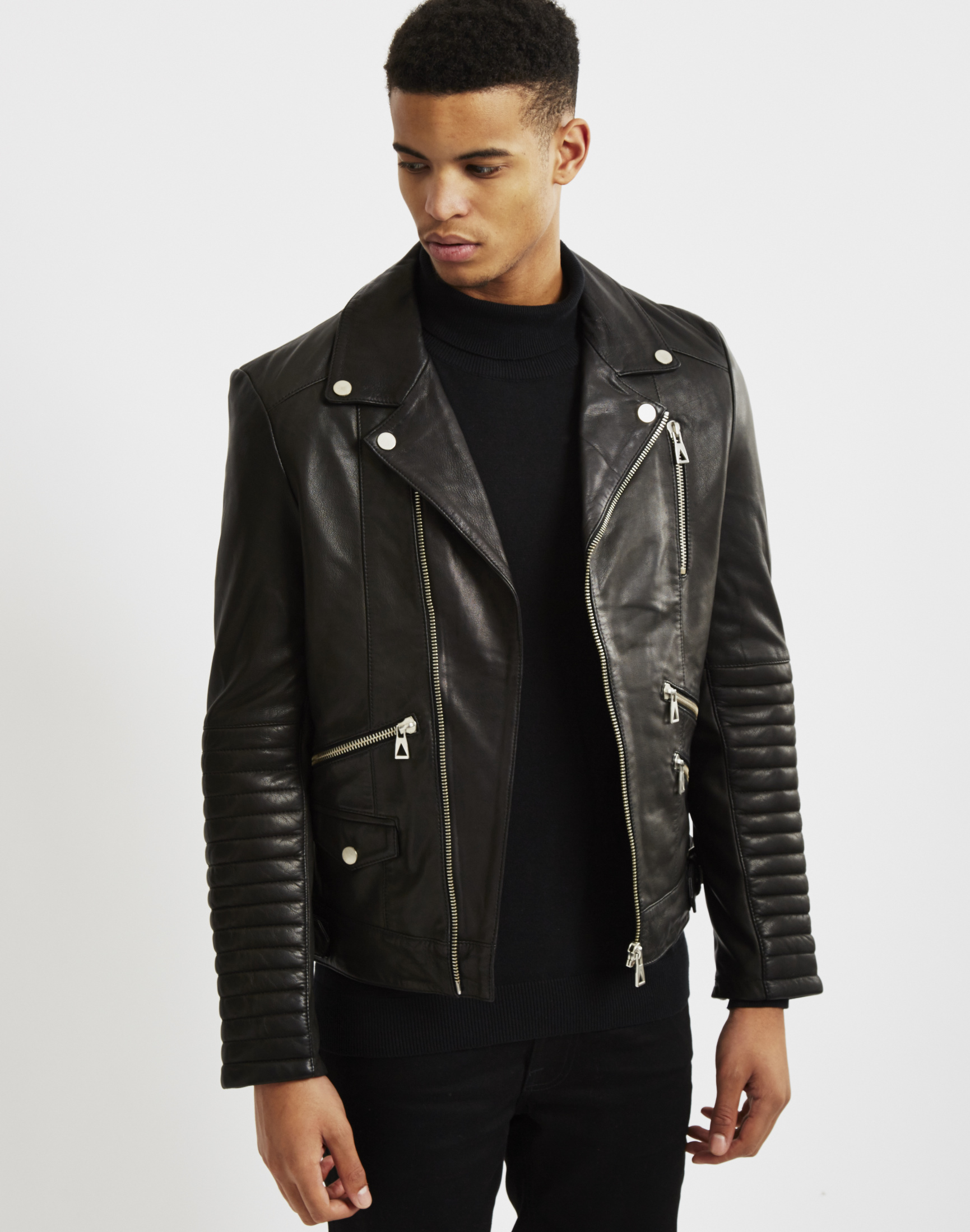 Paris leather jacket