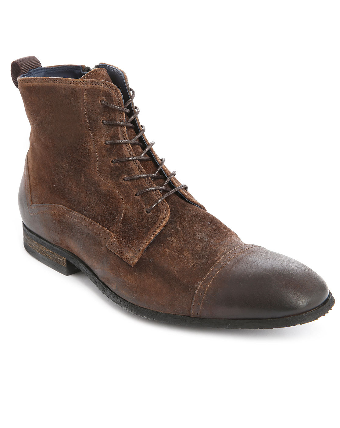 billtornade fast hammer worn look brown leather shoes