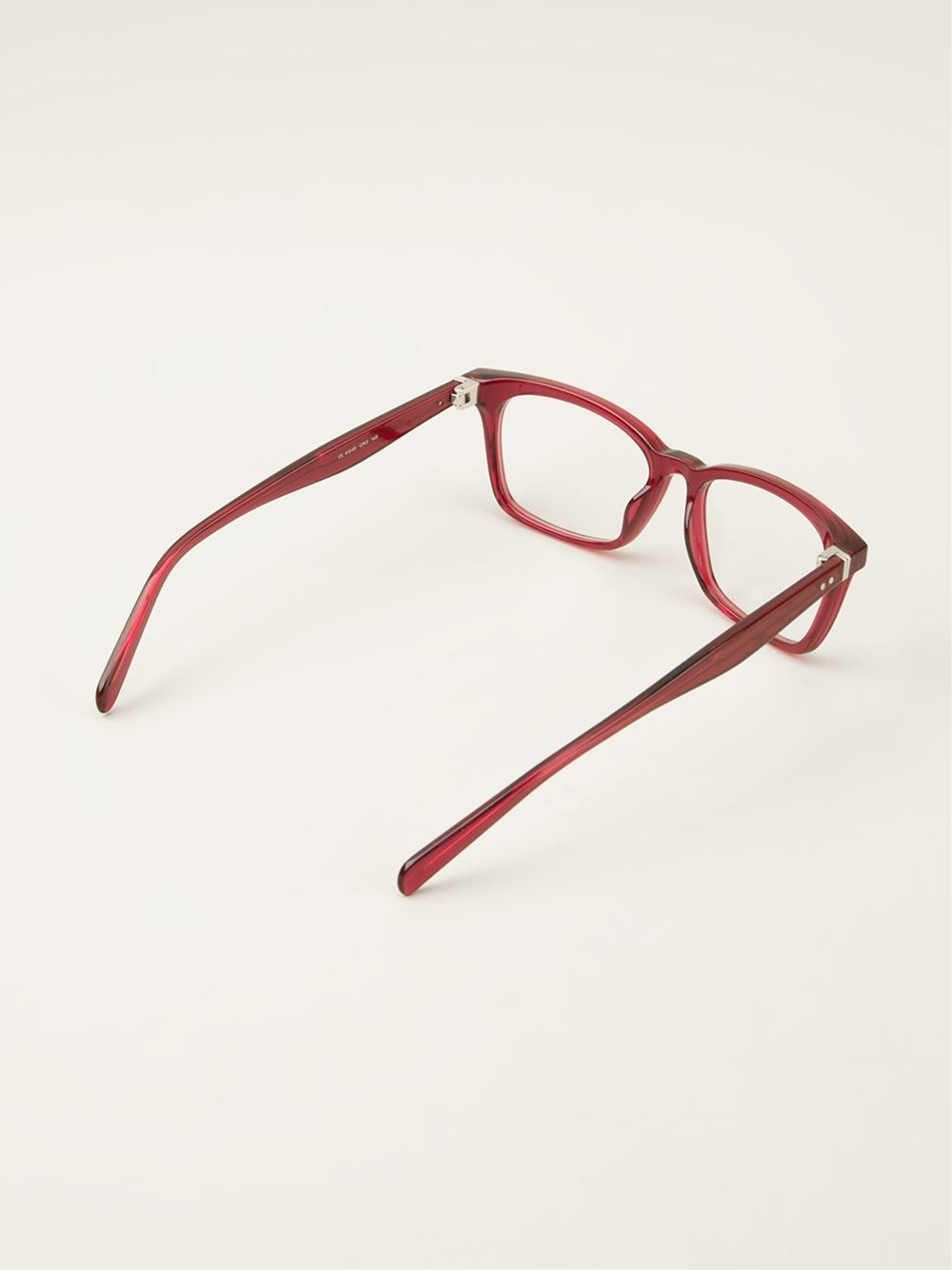 Lyst C 233 Line Square Glasses In Red
