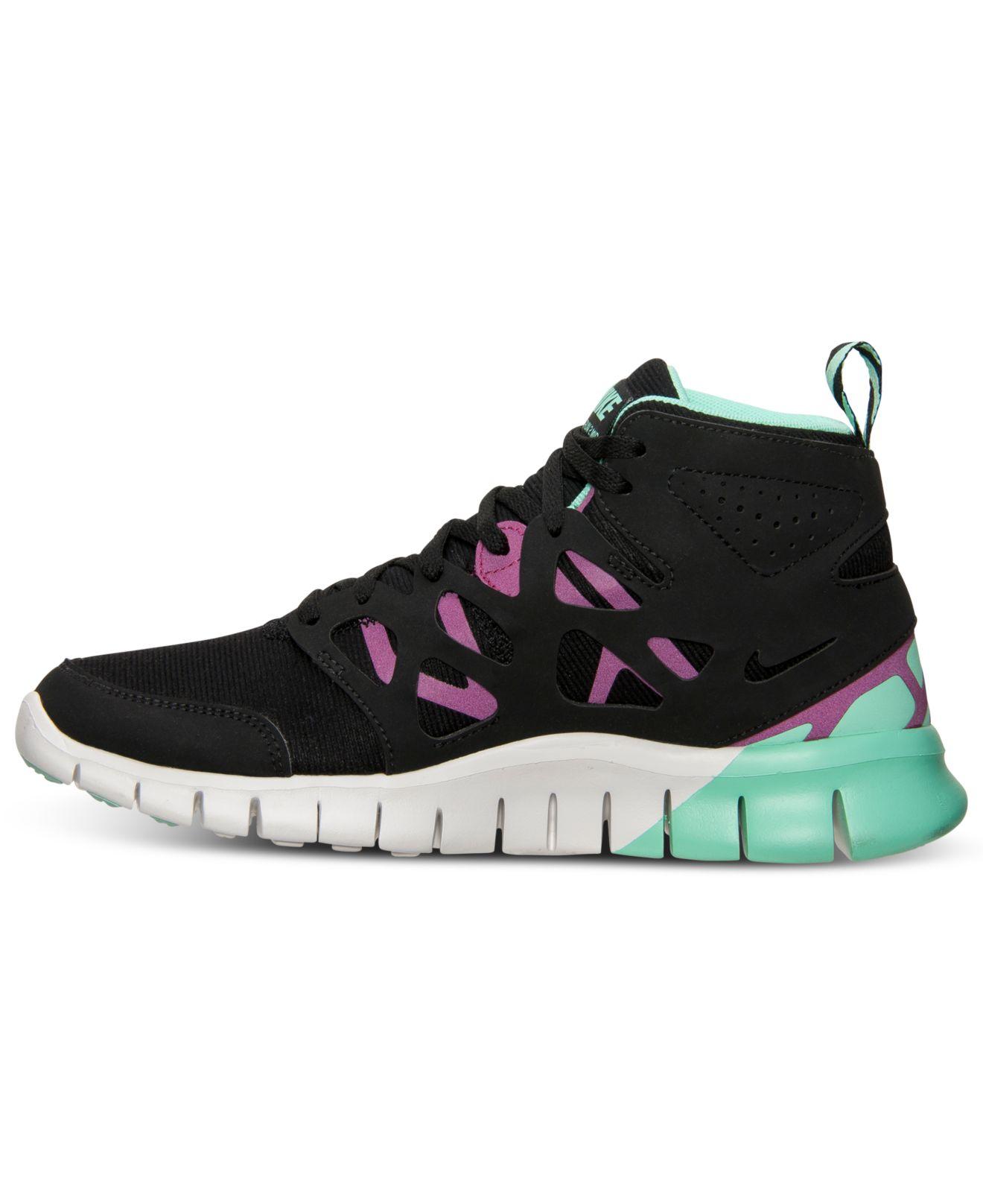 new styles c864c 72a9d Lyst - Nike WomenS Free Run 2 Mid Sneakerboot From Finish Li