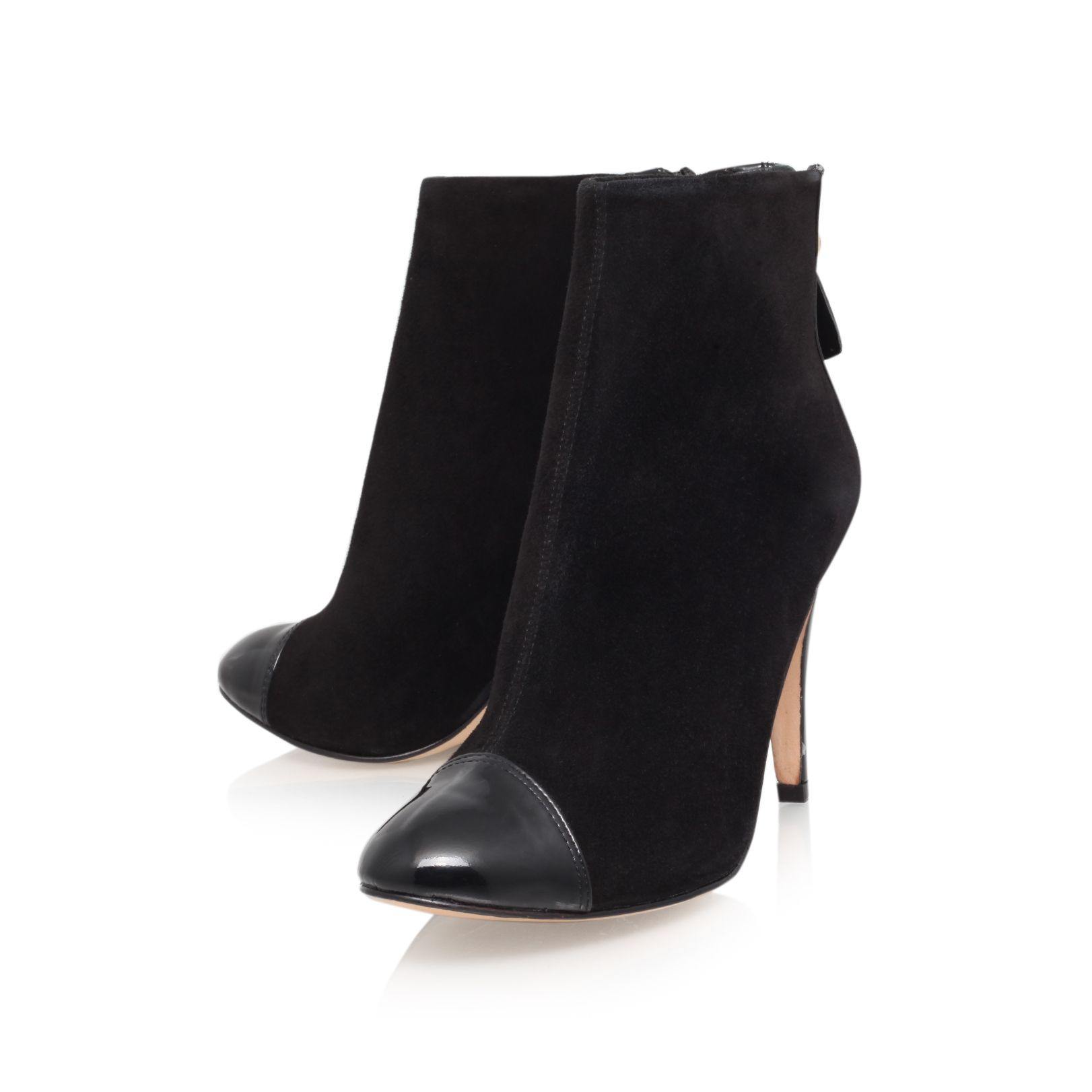 Lucy Choi Leather Genie High Heel Boots in Black