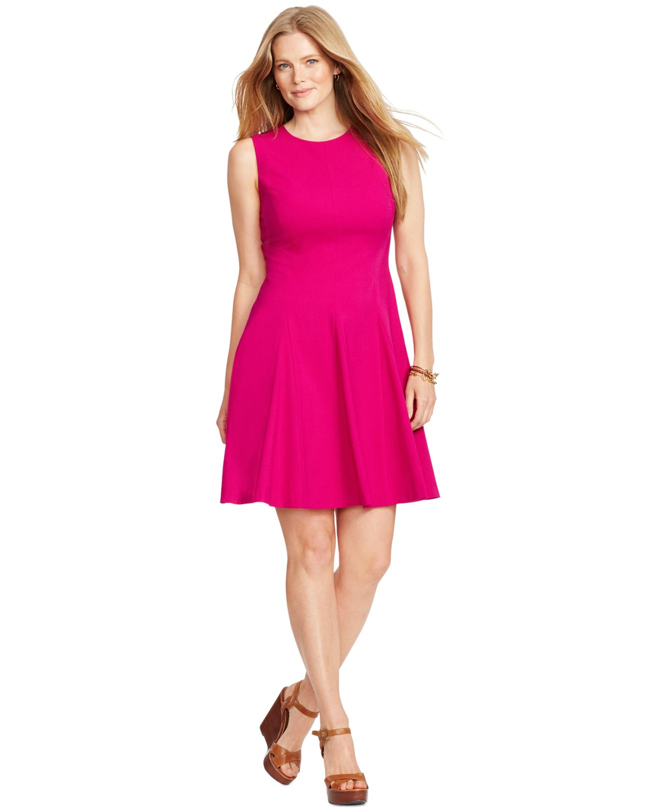 Plus size fitted flare dress