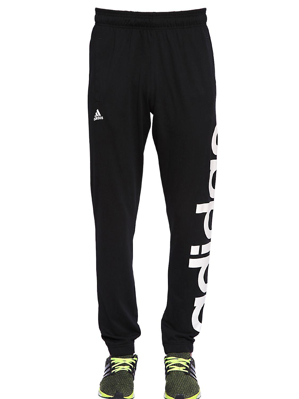 Adidas Originals Climalite Cotton Blend Jogging Pants In