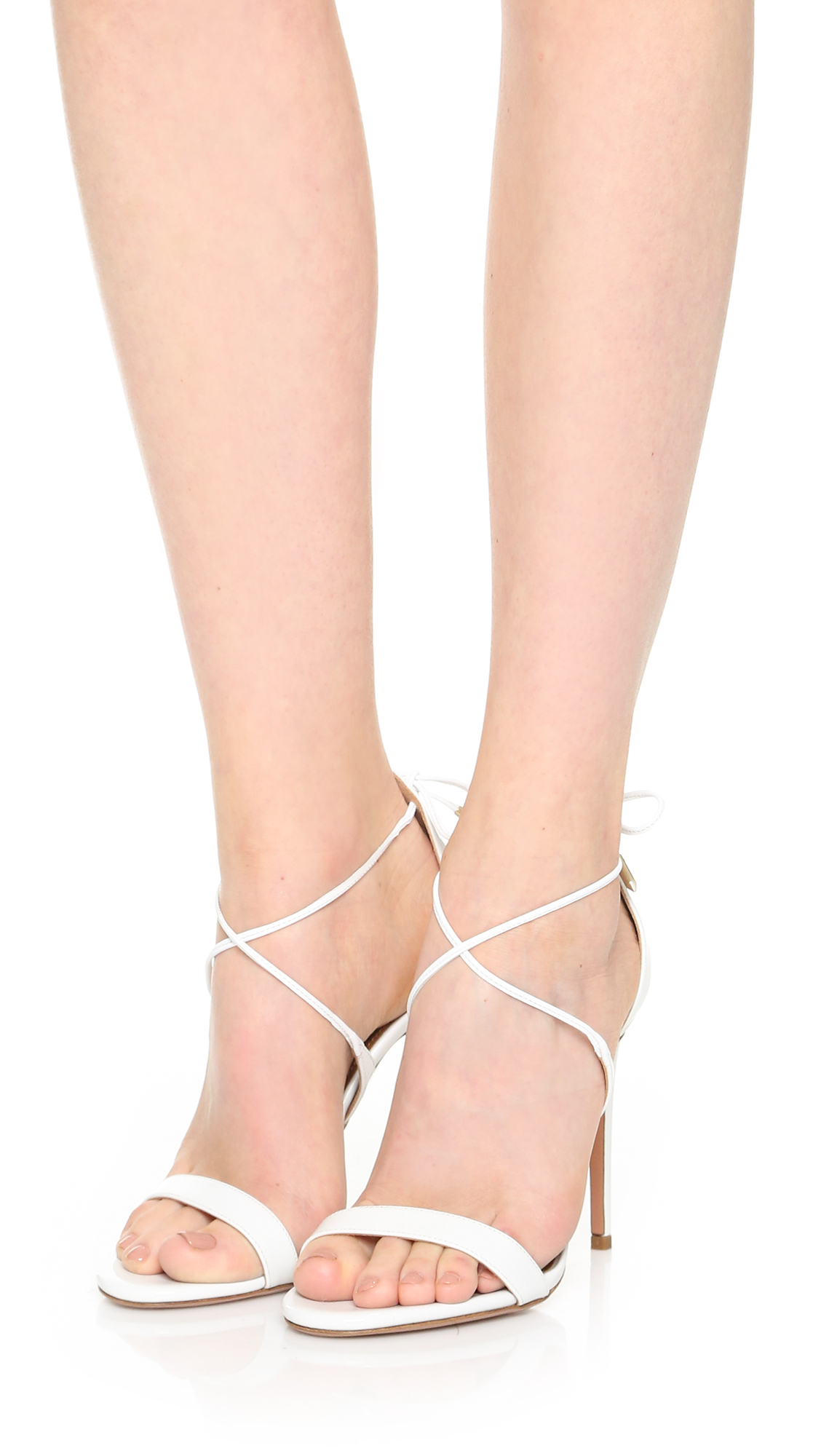 Sandals In Lyst Aquazzura White Linda qfv6wFP