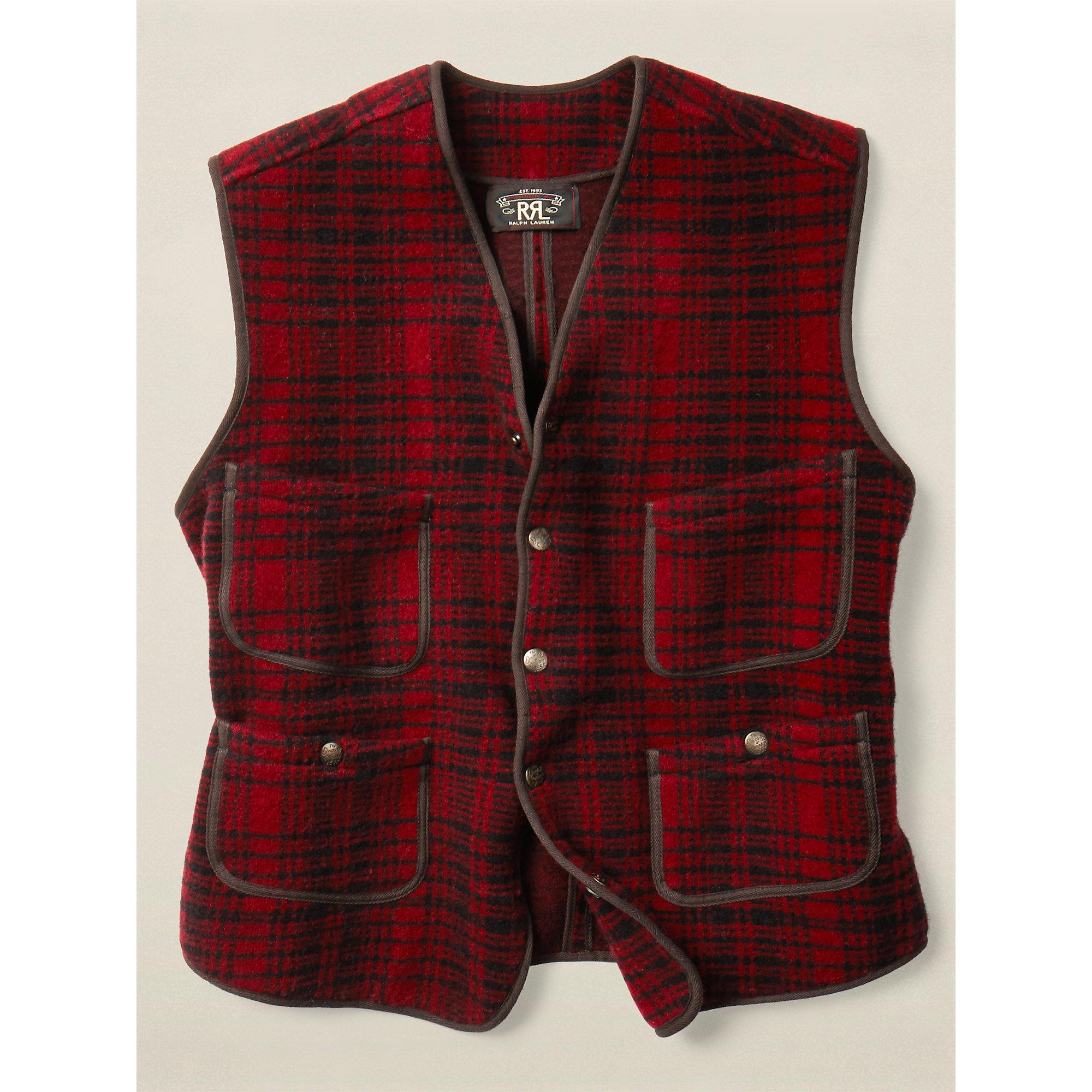 Rrl Boiled Merino Sweater Vest in Red for Men | Lyst