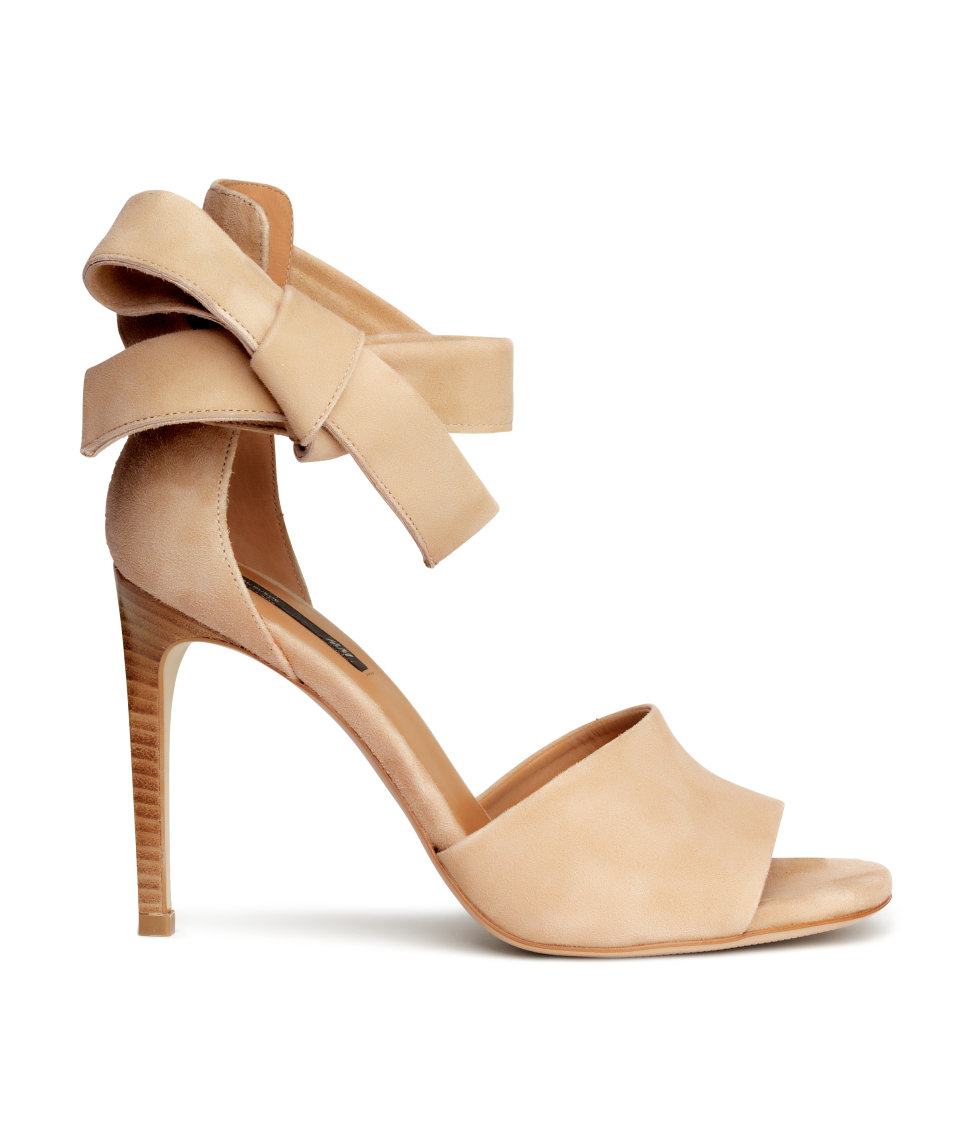 h m suede sandals in lyst
