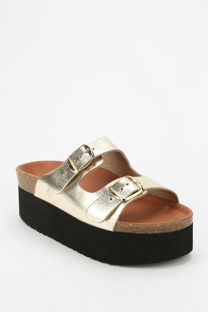 9a95a0c856a Lyst - Sixtyseven Sixtyseven Indigo Platform Sandal in Metallic