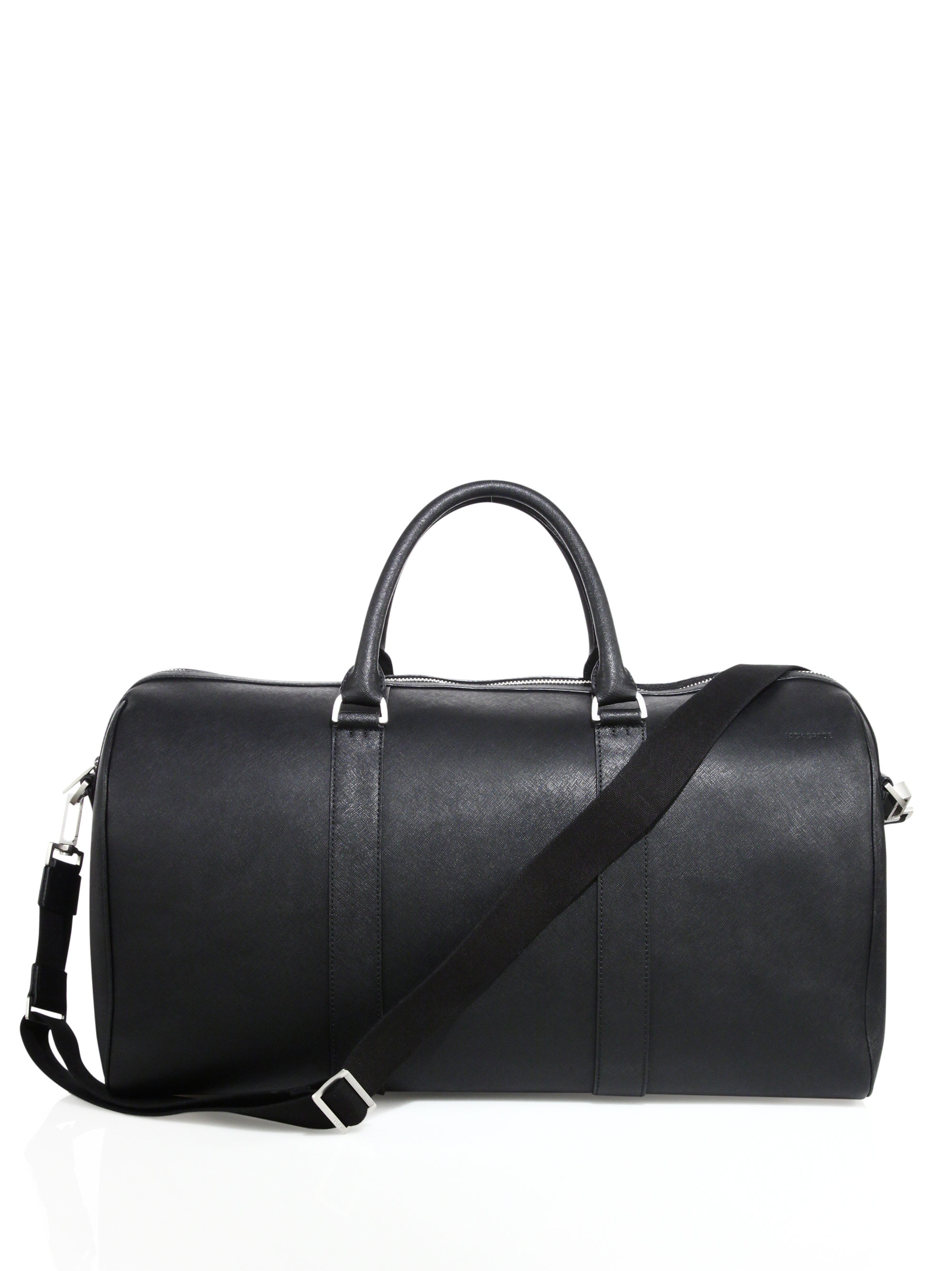 8eb45684bb663 Well-known Lyst - Jack Spade Barrow Saffiano Leather Duffle Bag in Black  for Men