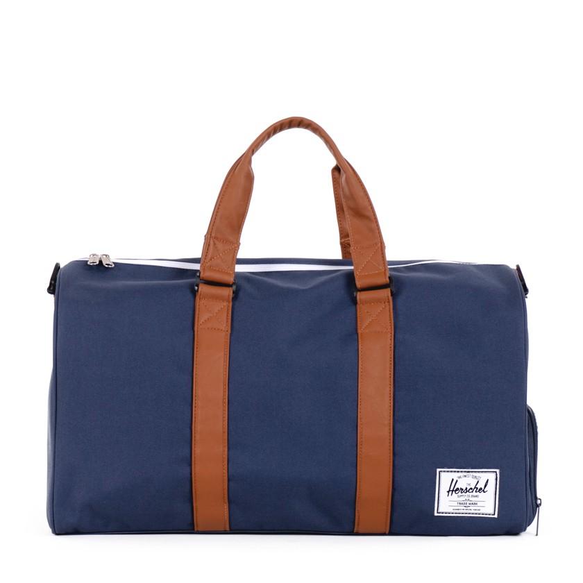 herschel supply co navy novel duffel bag in blue for
