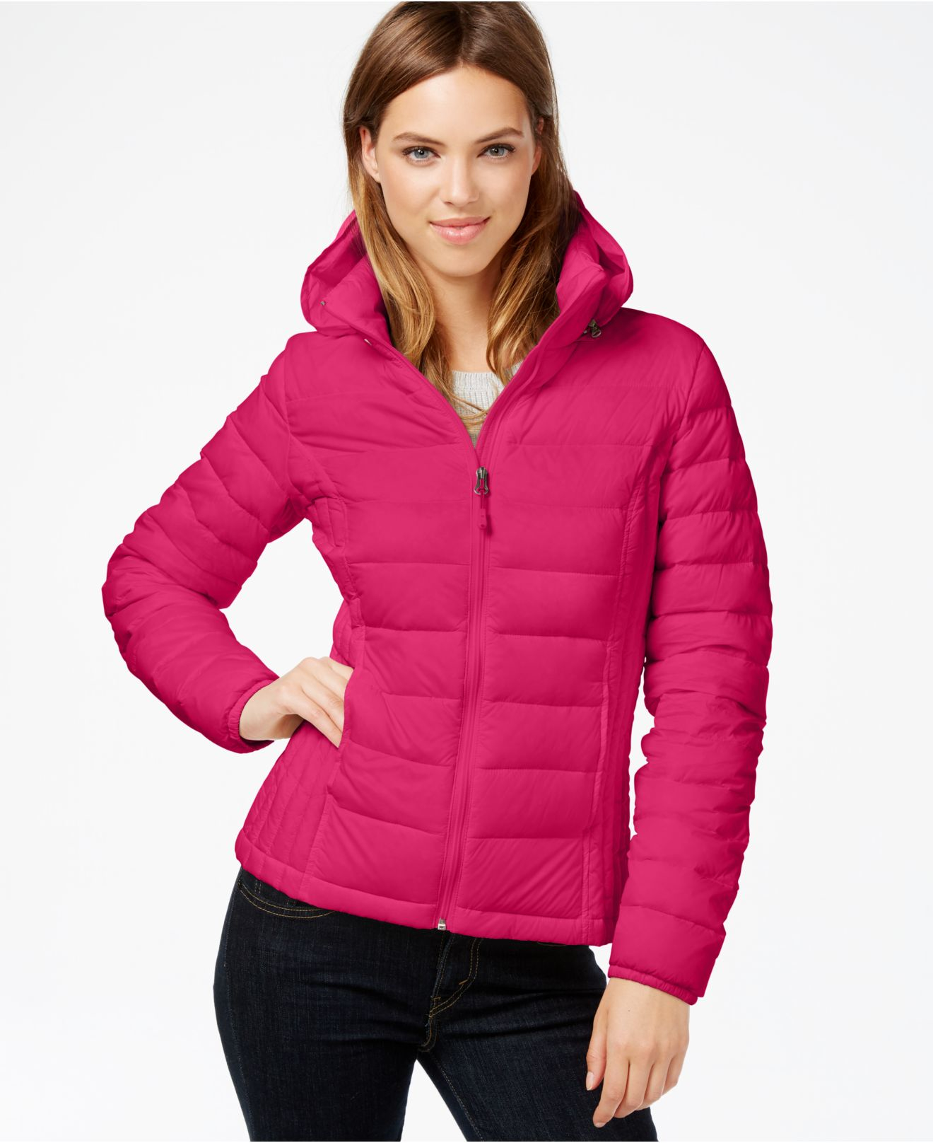 Lyst 32 Degrees Hooded Packable Down Puffer Jacket In Pink