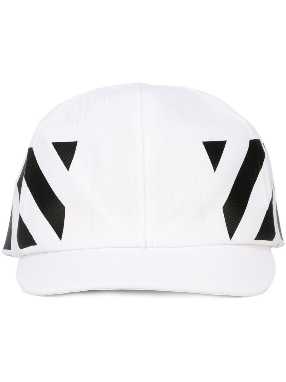 Lyst - Off-White C/O Virgil Abloh Striped Baseball Cap in White for Men