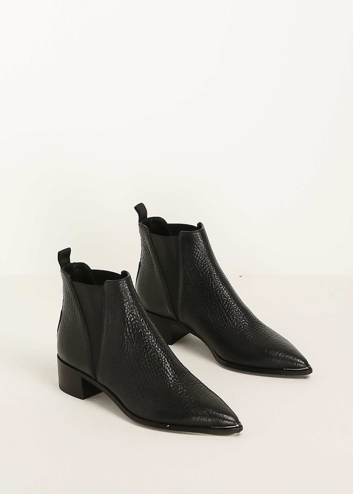acne studios black jensen grain ankle boot in black lyst. Black Bedroom Furniture Sets. Home Design Ideas