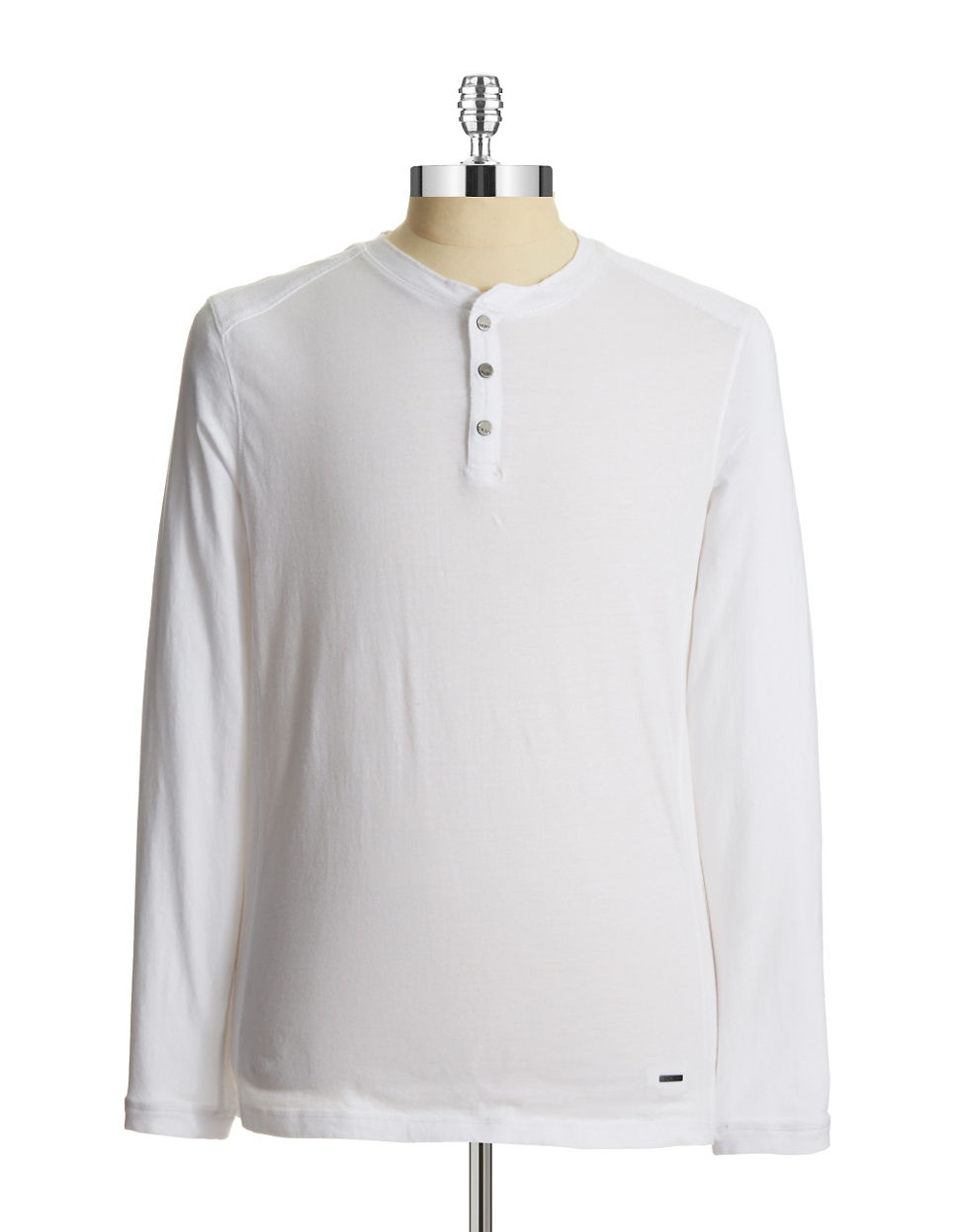 Dkny Thermal Accented Henley Shirt In White For Men Lyst