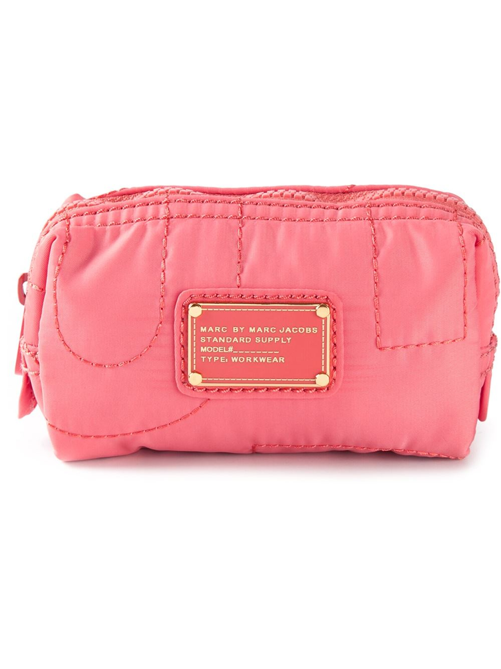 76b5c3ca8536 Lyst Marc By Jacobs Quilted Cosmetic Bag In Pink Case B Y O T Small  Cosmetics M0009485