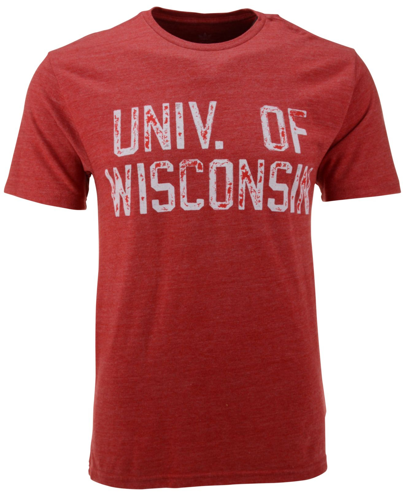 Lyst Adidas Men 39 S Wisconsin Badgers Stamped Out T Shirt
