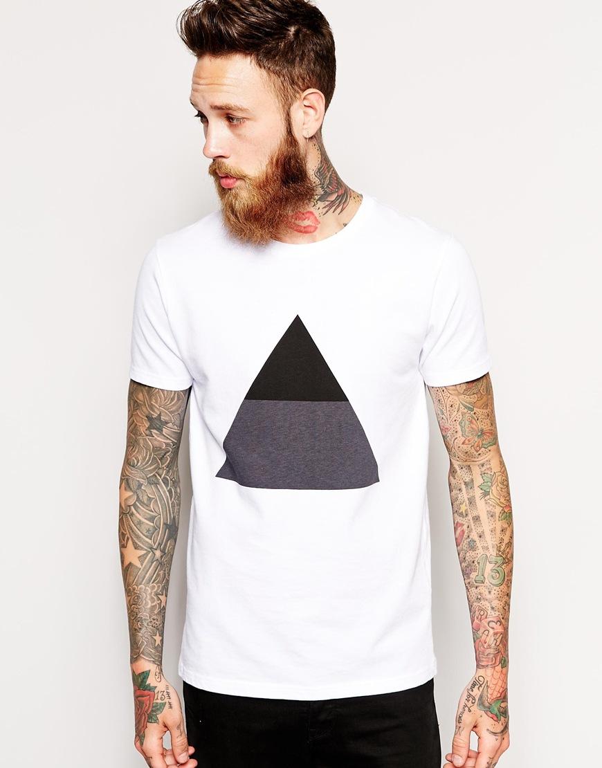 Han Kjobenhavn Han Tshirt With White Triangle Pattern In