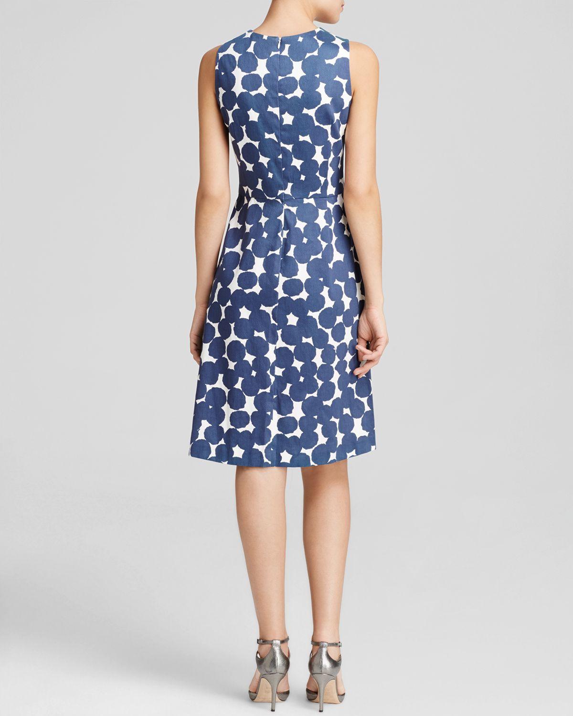 Anne Klein Dress - Sleeveless Printed A-line in Blue