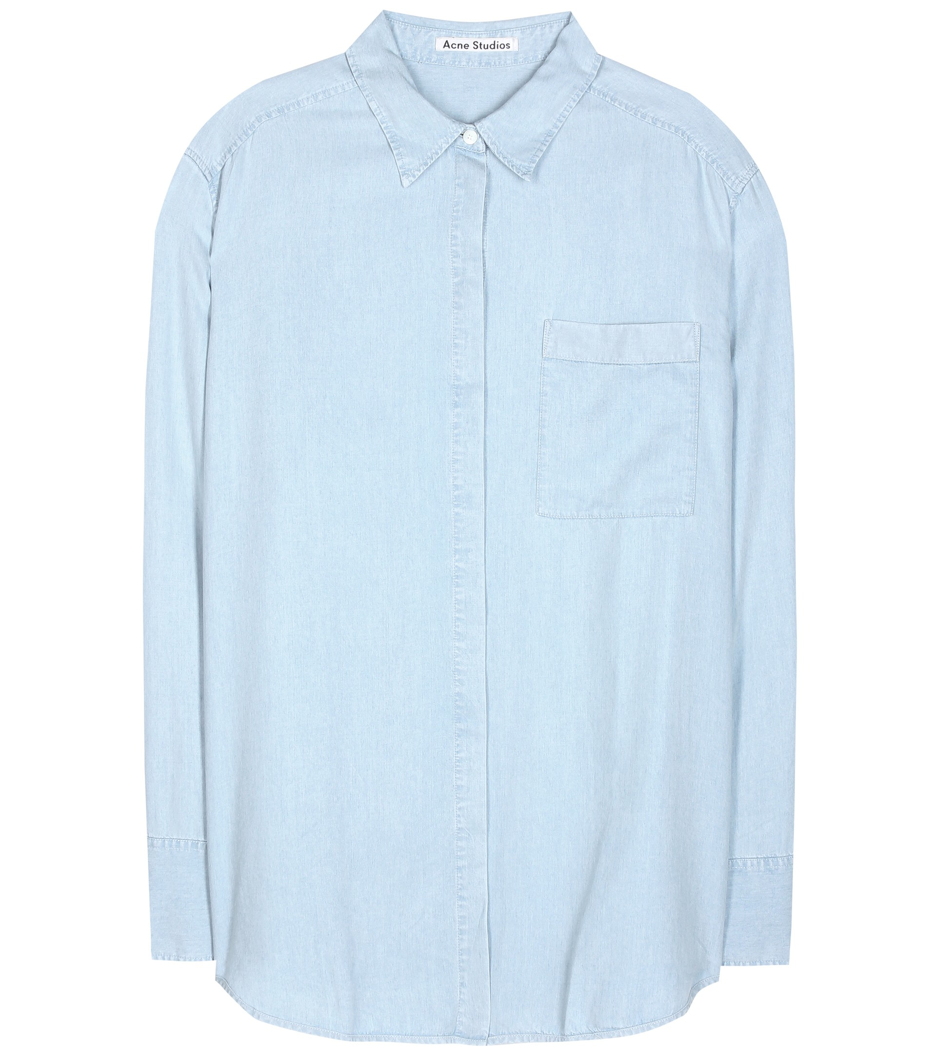 Acne Studios Addle Chambray Shirt In Blue Lyst