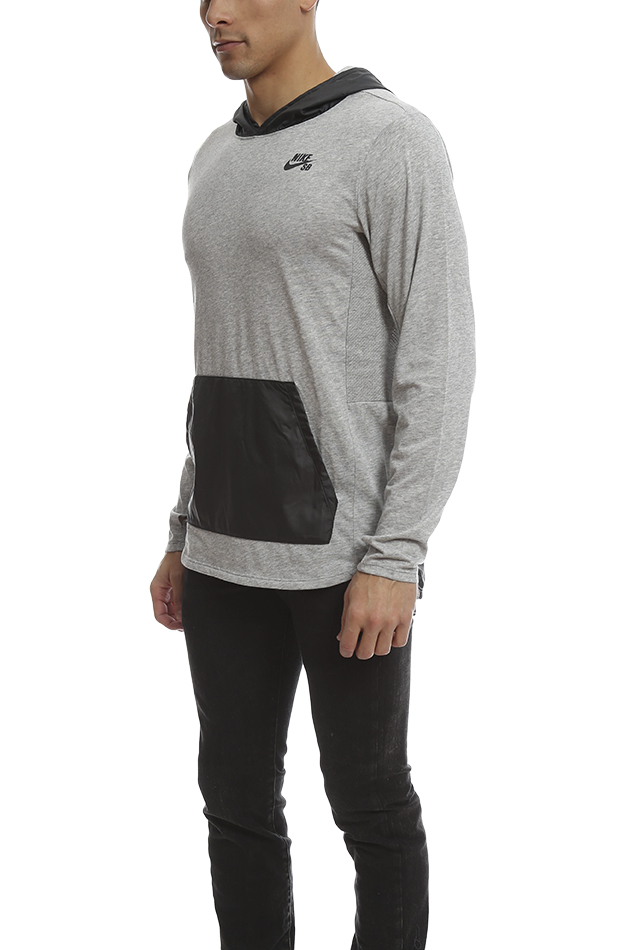 nike sb skyline overlay pullover in gray for men lyst. Black Bedroom Furniture Sets. Home Design Ideas