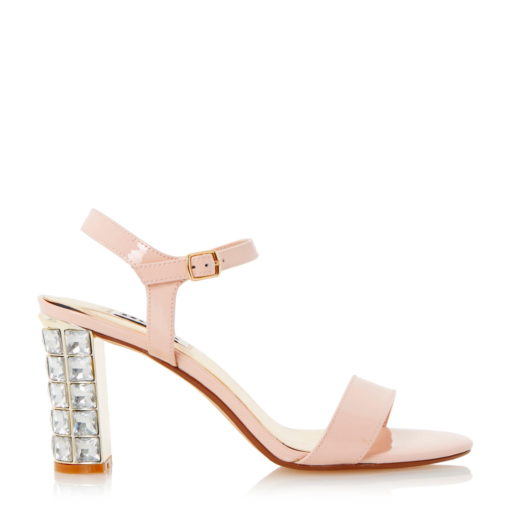 Dune Maia Jewel Block Heel Sandal in Pink   Lyst