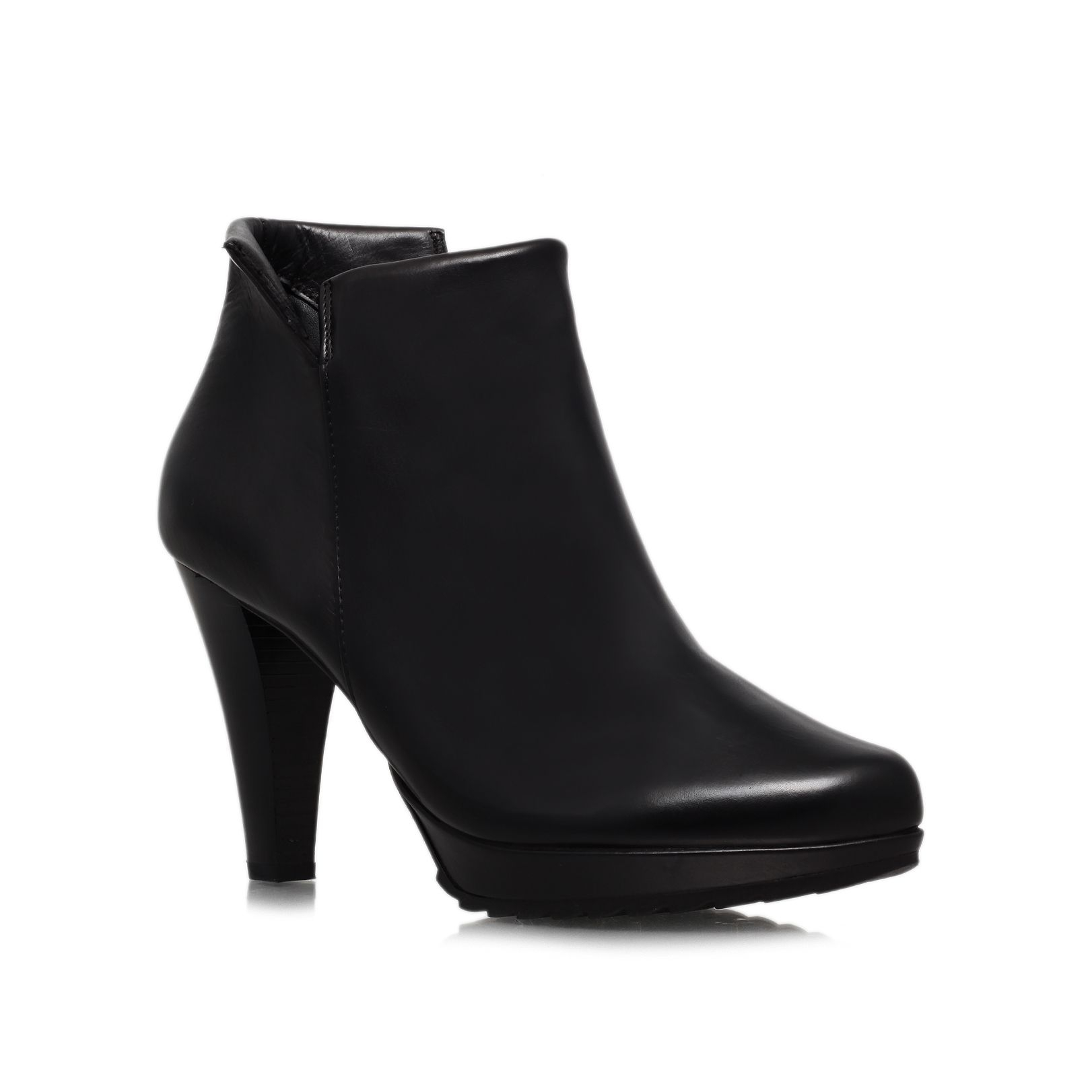 Paul Green Leather Ann High Heel Boots in Black