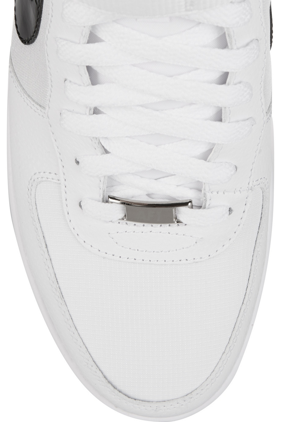 Nike Air Force 1 Ultra Force Leather And Canvas Sneakers in White