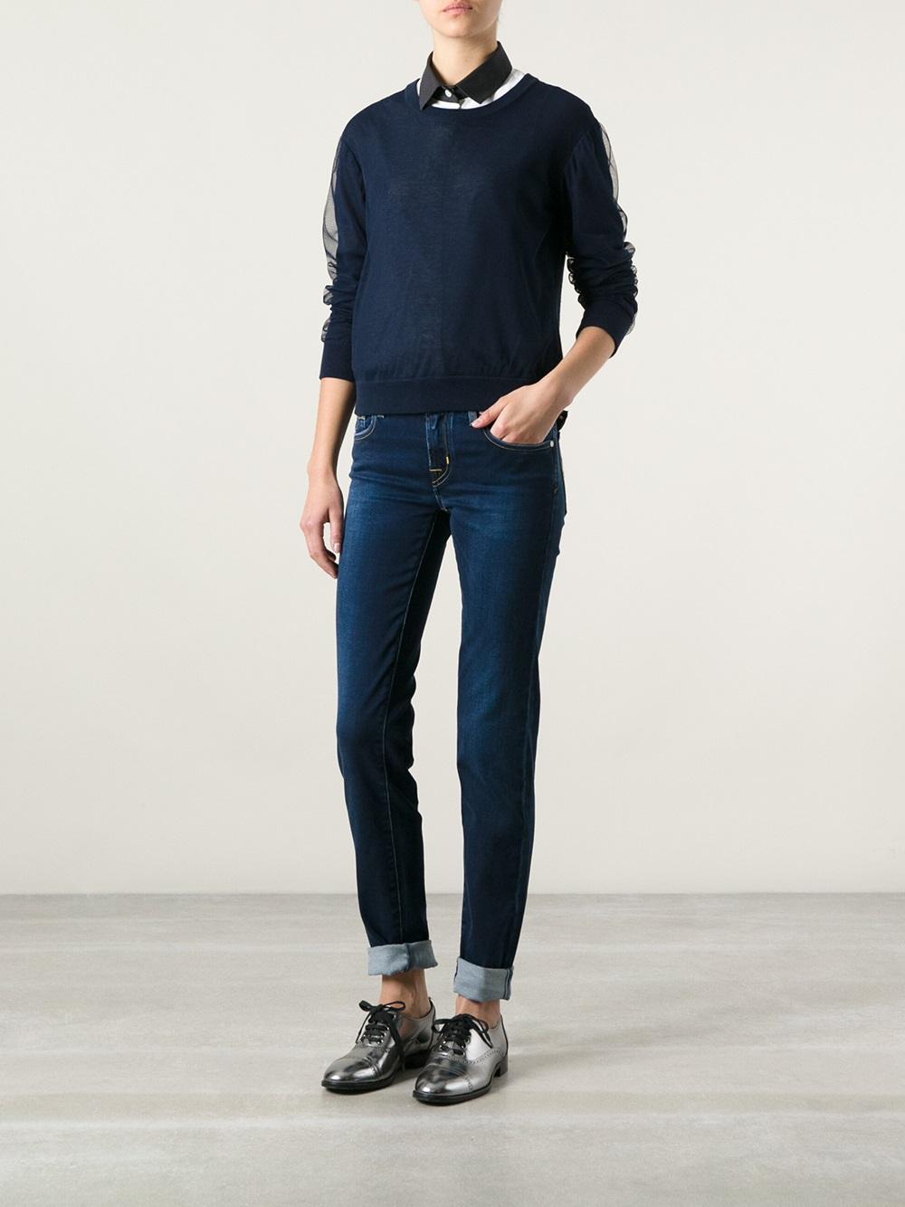 jacob cohen slim jeans in blue lyst. Black Bedroom Furniture Sets. Home Design Ideas