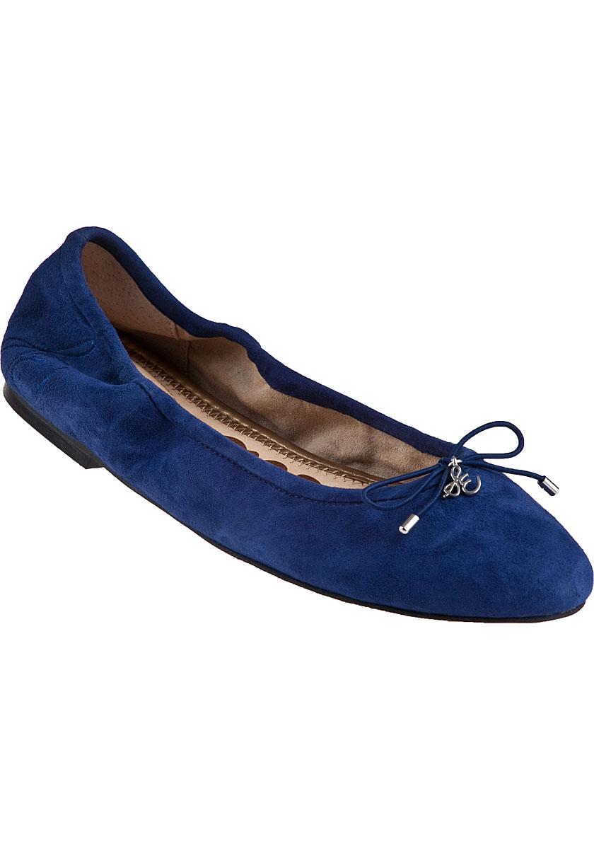 ea3dbf73551af2 Lyst - Sam Edelman Felicia Ballet Flat Navy Suede in Blue
