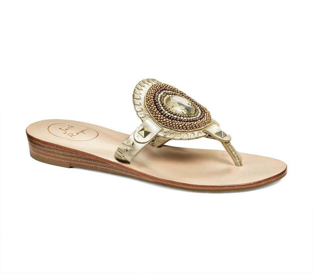 Jack Rogers Gisele Sandal In Gold Platinum Lyst