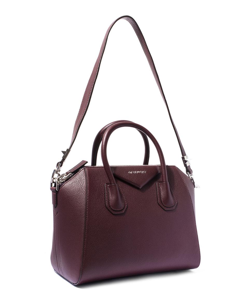 Lyst - Givenchy Small Burgundy Antigona Sugar Pebbled Leather Bag in ... 69895dc5c2ab1