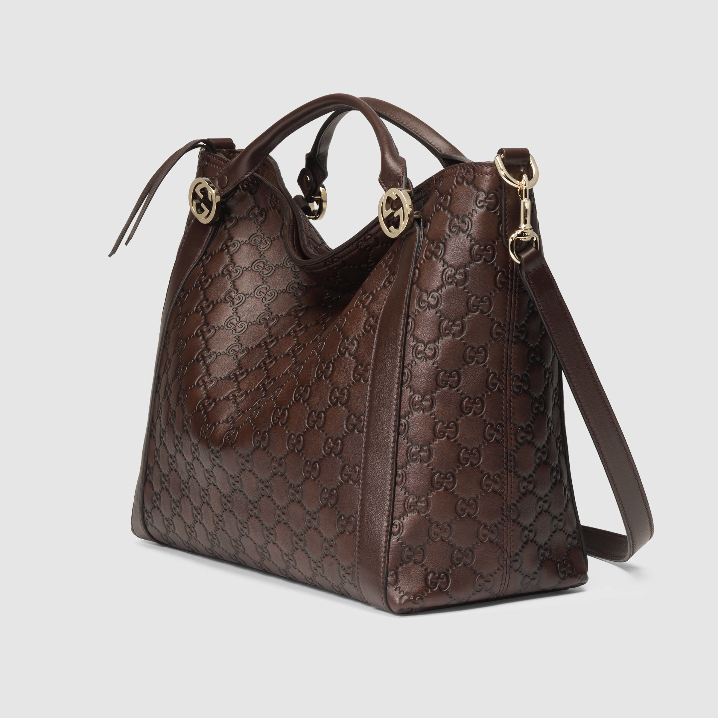 0573b3720a6e Gucci Miss Gg Ssima Leather Top Handle Bag in Brown - Lyst