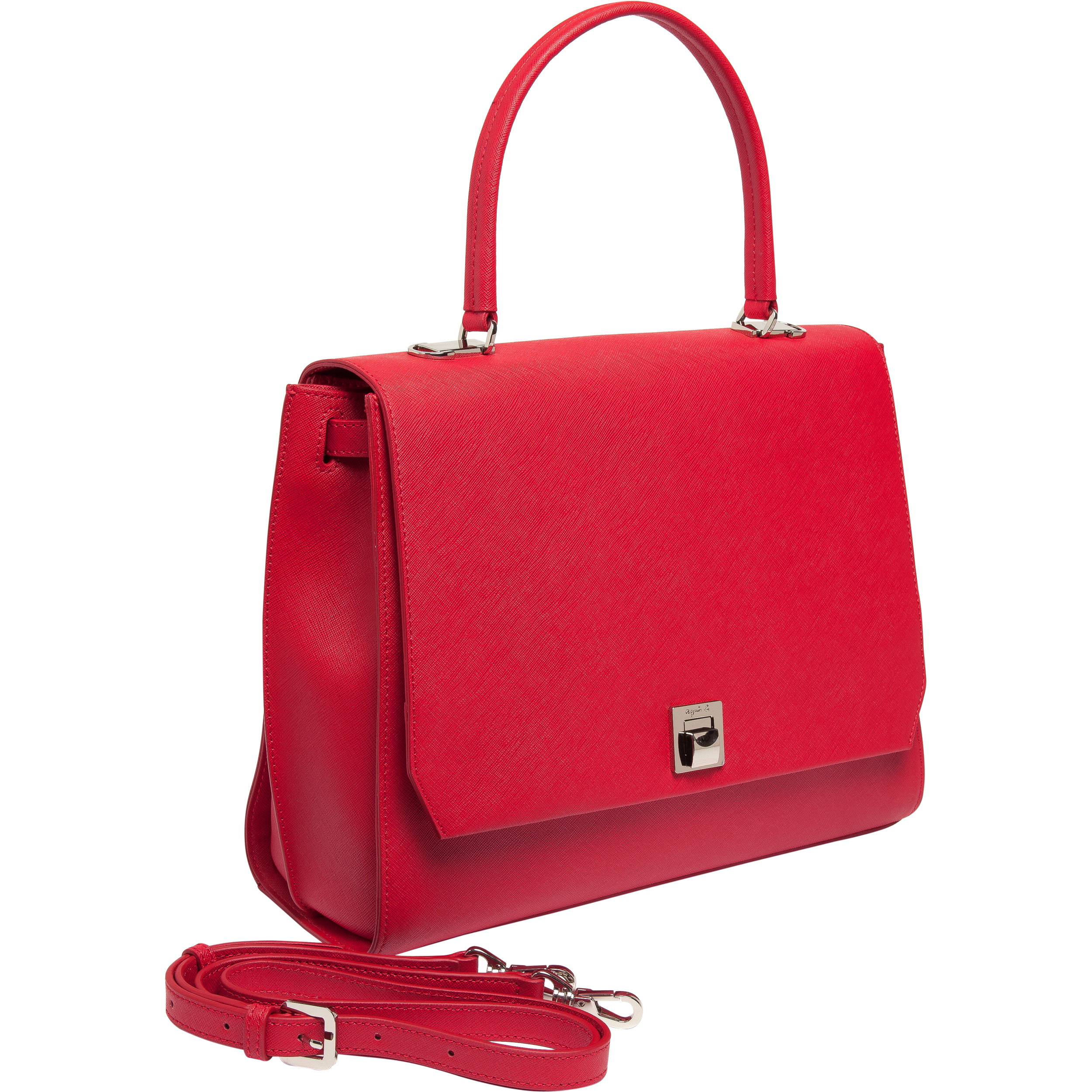 Agnès b. Small Red Hand Bag in Red | Lyst
