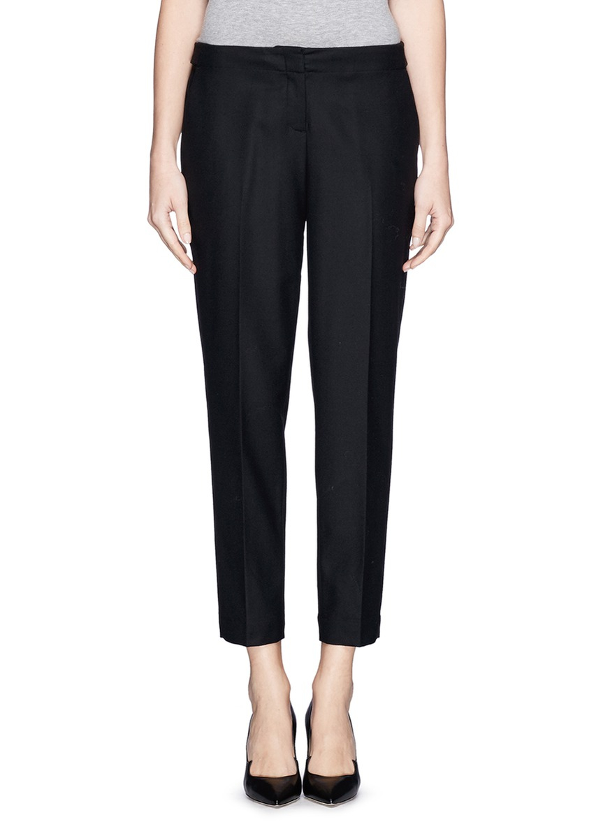 Theory Padra Flannel Wool Pants In Black Lyst