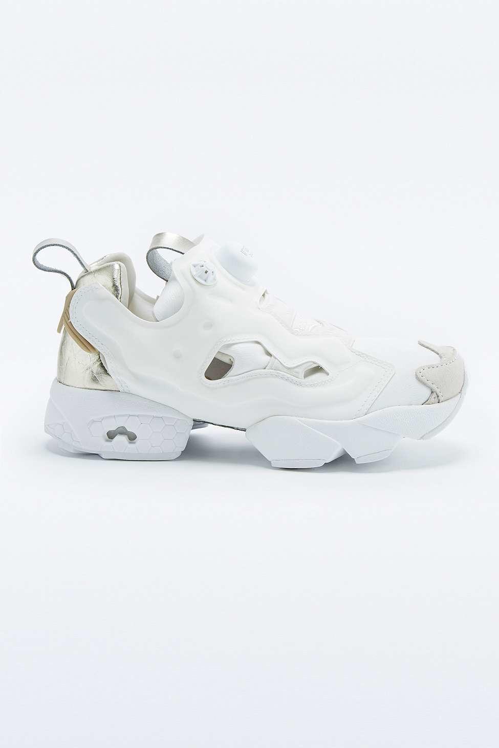Reebok Instapump Fury Premium White Trainers in White - Lyst 4c459d0c8