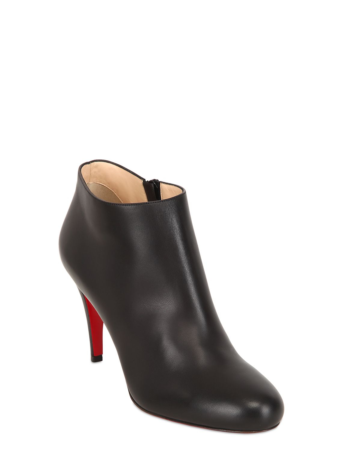 christian louboutin 85mm calf leather ankle boots in